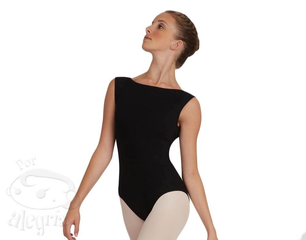 Boatneck Leotard Low Back