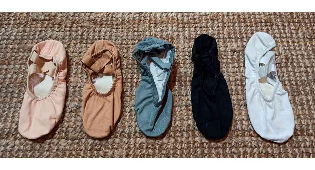 colores de zapatillas de ballet