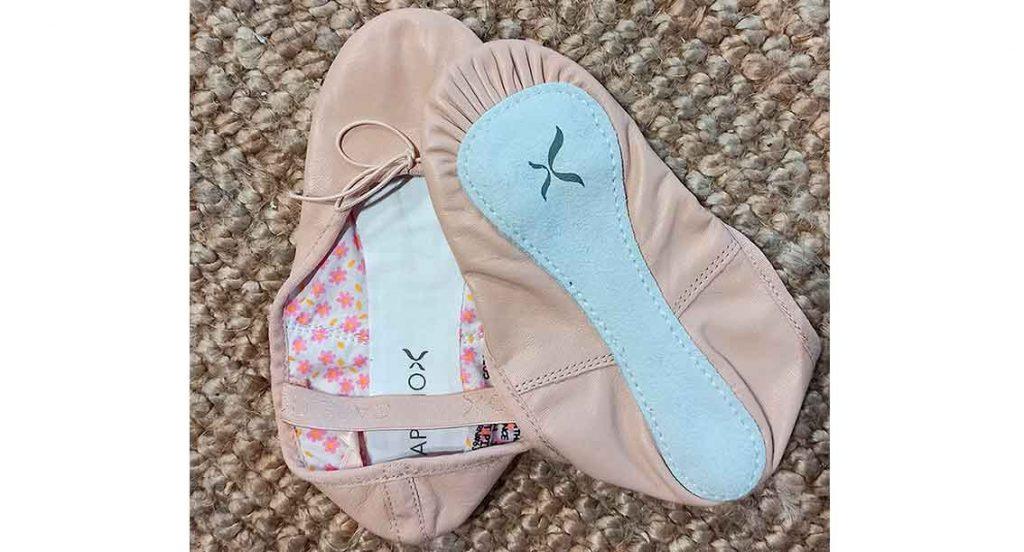 Zapatillas de ballet de piel suela entera