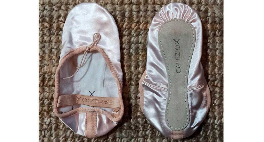 zapatillas de ballet en satin